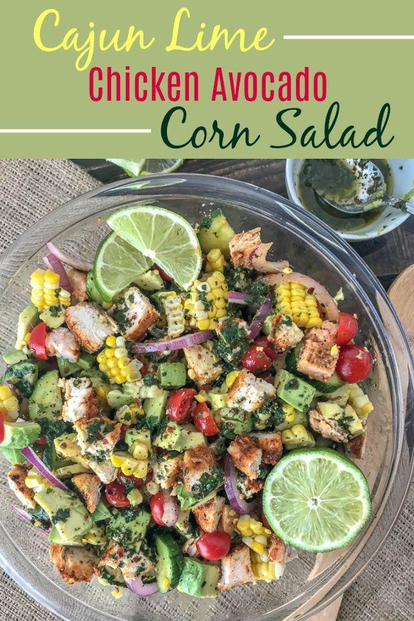 Cajun Lime Chicken Avocado Corn Salad