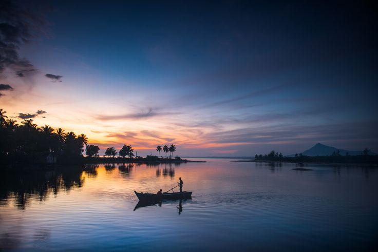Amazing Sunrise in Natuna Kepulauan Riua Indonesia