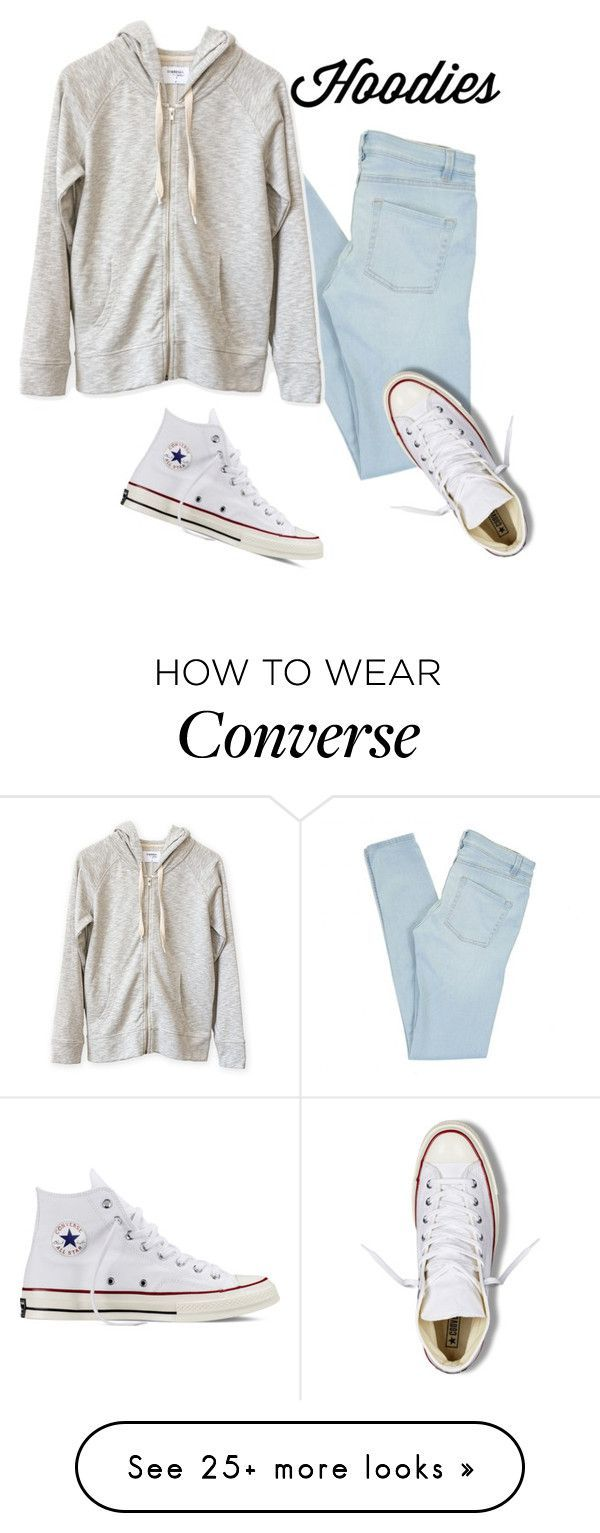 """plain hoodie"" by genevieve-ostmann on Polyvore featuring Marc by Marc Jacobs, Converse, women's clothing, women's fashion, women, female, woman, misses and juniors - womens discount clothing, young womens clothing, womens clothing stores"