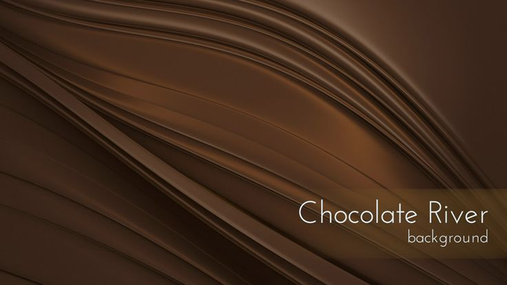 Dark Chocolate River Motion Background