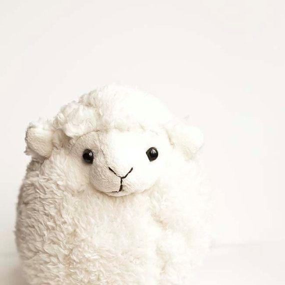 Children decor, minimalist, white, toy baby lamb, beige nursery decor - fine art photography 5x5 photo