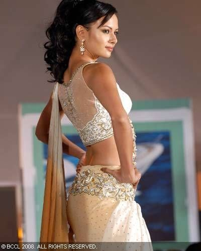 Interesting back pattern for brides who shy away from showing off too much skin!