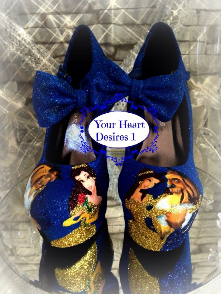 Beauty And The Beast Wedding Shoes