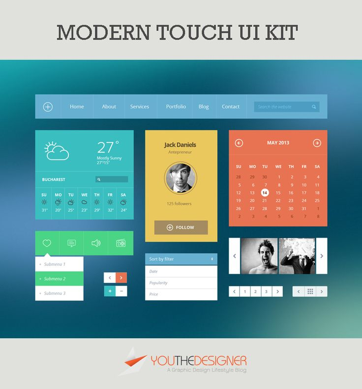 Modern Touch UI Kit - Flat design