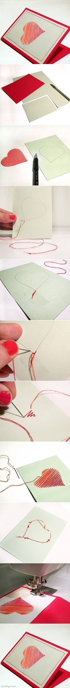 Heart Card  crafts home made easy crafts craft idea crafts ideas  ideas  crafts  idea do it yourself  projects  craft handmade  sewing  gifts craft gifts