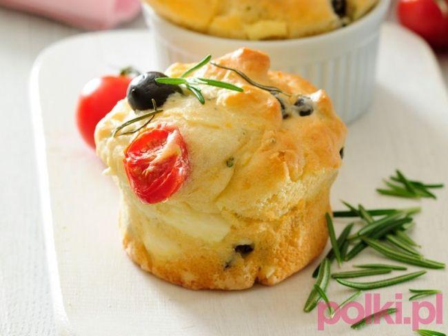 Muffiny na słono z fetą - przepis