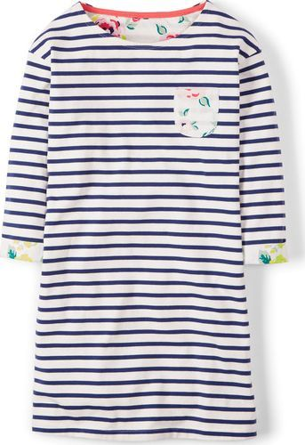 Johnnie  b Nancy Tunic Dress Cream Johnnie b, Cream 34530808 A cool new Breton tunic with sweet touches of contrast floral print at the cuffs and pocket. Everyday comfort with a little oh la la! http://www.comparestoreprices.co.uk/january-2017-9/johnnie-b-nancy-tunic-dress-cream-johnnie-b-cream-34530808.asp