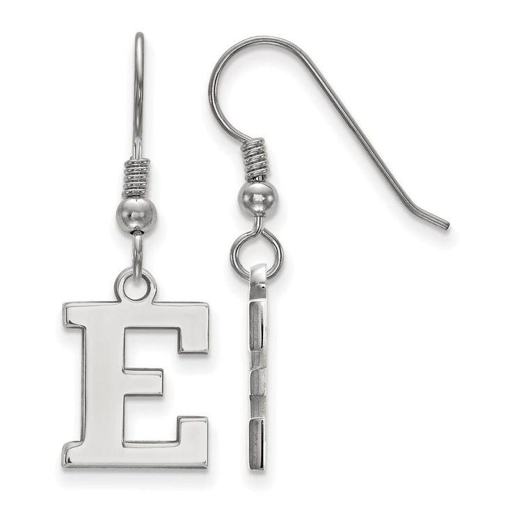 Sterling Silver LogoArt Eastern Michigan University Small Dangle Earrings