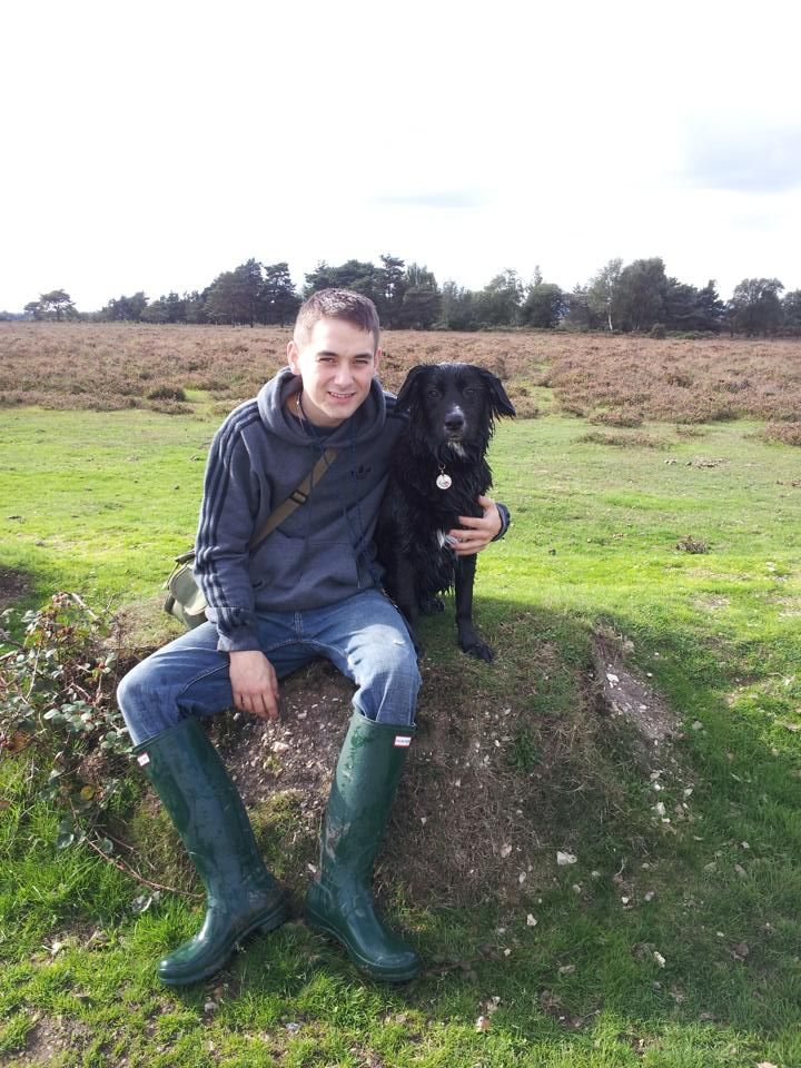 Uk Lad In Green Wellies With His Dog Courtesy Of Aigleboy