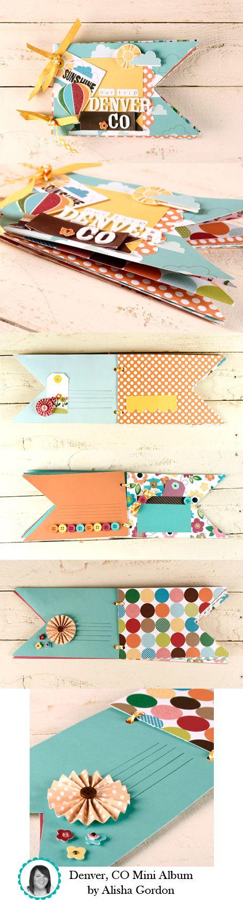 American Crafts-Denver CO Mini Album by Alisha Gordon