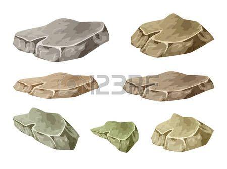 kameny: rock, kámen, symbol, ikona designu. ilustrace na bílém pozadí. Ilustrace