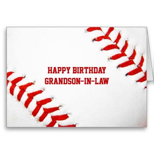 Baseball Happy Birthday Grandson In Law Card Happy Birthday Grandson Happy Birthday Greetings
