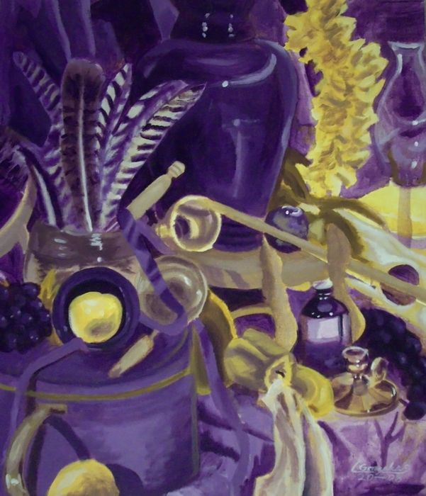 Edit Scrapped As Its Not Really My Usual Style Of Work At All Updated With A Better Photograph Still Life In Yellow And Purple From Pain
