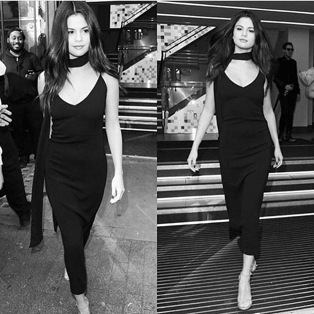 Sass like Selena...make like @selenagomez and channel major supermodel vibes in @AteaOceanie's slip dress - available via link in our bio in black and bright royal blue. Perfect for summer and perfectly you.   images via   @__styleinspiration