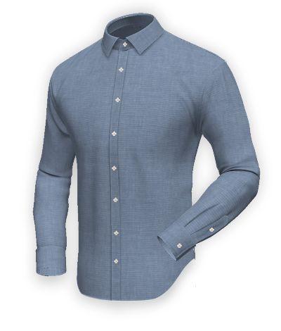 Blue 100% cotton Shirt http://www.tailor4less.com/en-us/men/shirts/2390-blue-100-cotton-shirt