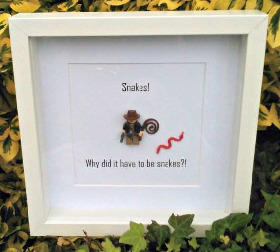 Indiana Jones Framed Minifigure Gift for Him by DanMakesWithLove