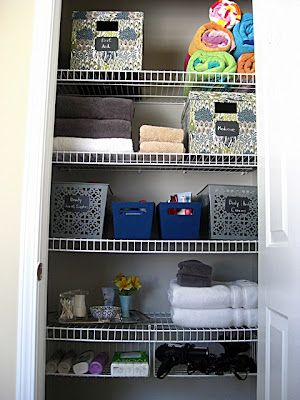 Eat. Sleep. Decorate.: Master Bath Linen Closet {Reveal}