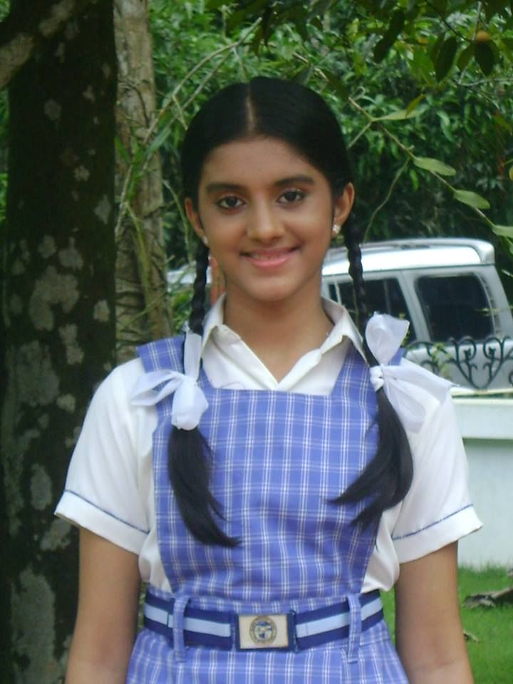 Amritha Anil In School Uniform  Mollywood  Pinterest -6680