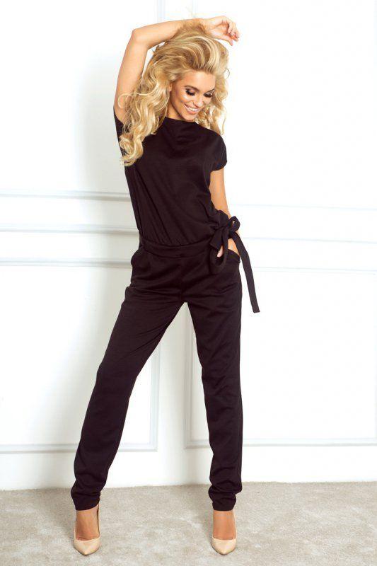 Elegancki kombinezon damski z krótkimi rękawami. #spodnium #kobieta #ubrania #clothes #newlook