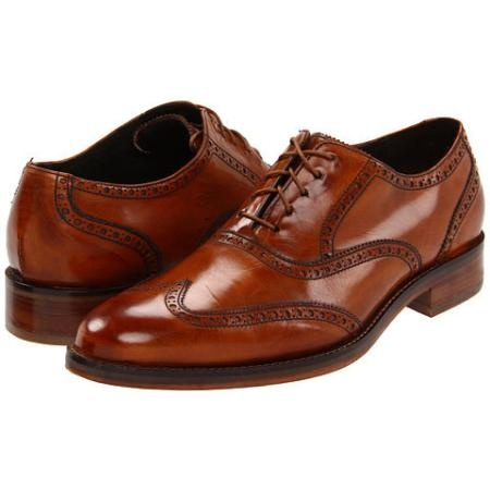 Cole Haan Air Madison Wing Oxford Men's Shoes - British Tan Calf