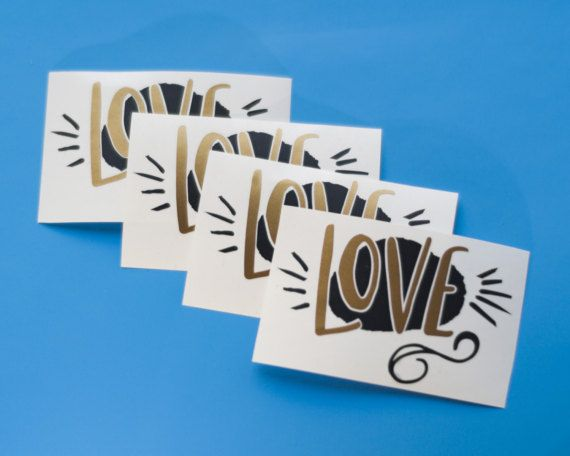 Love Decal Set  Laptop Decal  Wall Decal  by RaveStudioDesigns stickers mug decal