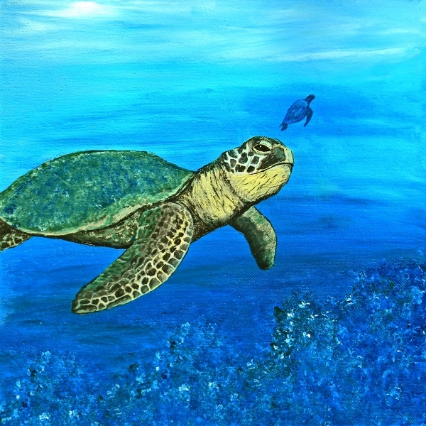 385 best images about how to fish frogs etc on pinterest for Turtle fish paint