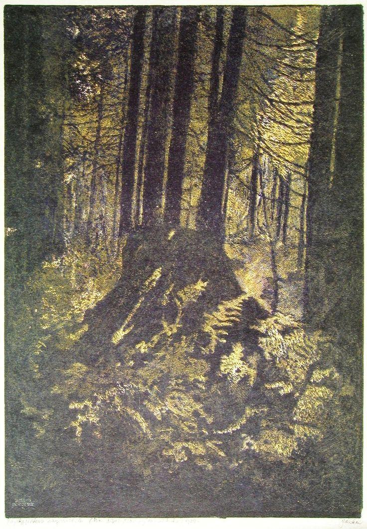 Josef Váchal from Šumava umírající a romantická (Gabreta dying and romantic), 1932, woodcut