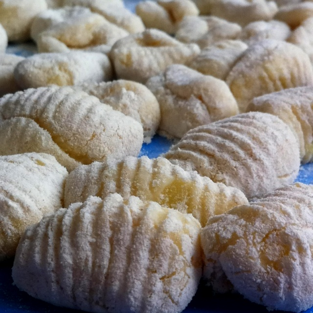 Today pasta. Homemade Gnoquis.