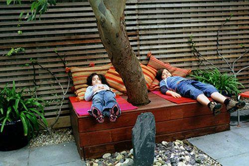 Tuin inspiratie van rijtjeshuis in Londen   Interieur inrichting