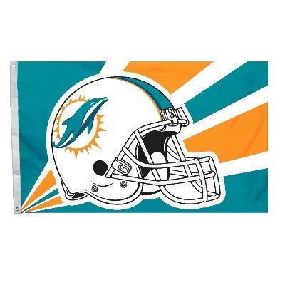 The Miami Dolphins Helmet Flag