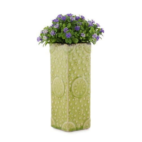 Decoratiuni - Vaza ceramica PTMD, verde, 20 cm la numai 12.00 RON