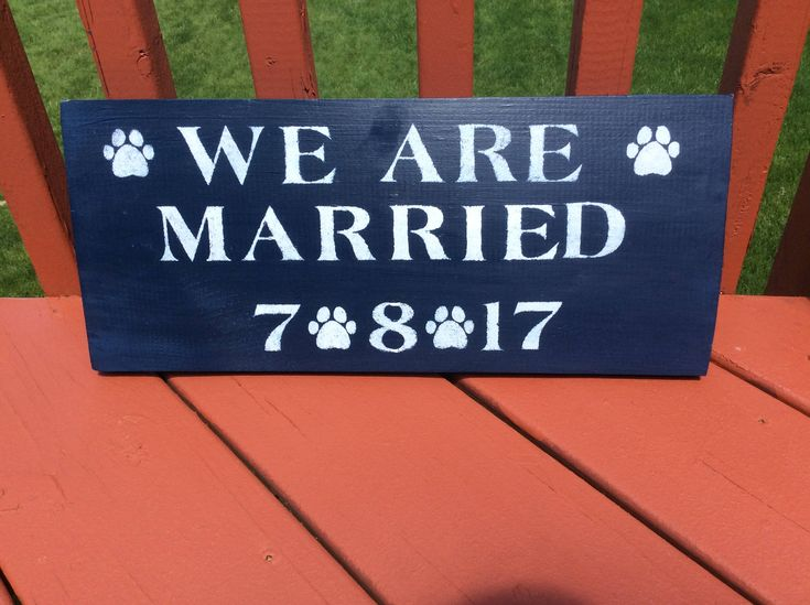 Custom Penn State inspired We Are Married sign by RubyHeartCrafts on Etsy