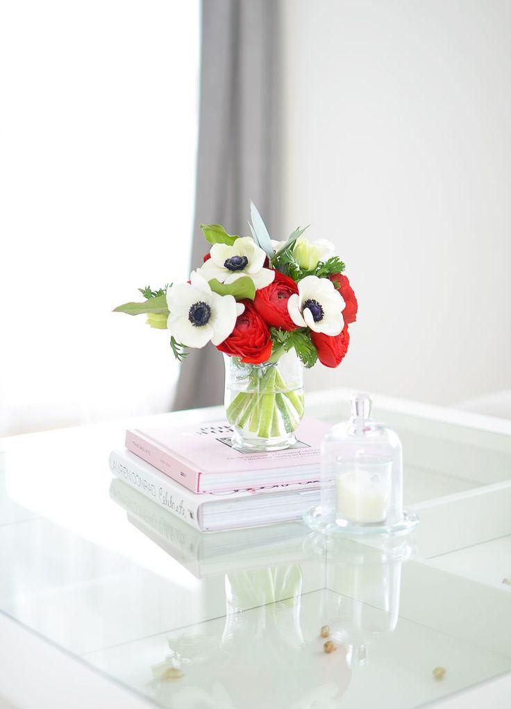 Kwiaty w salonie - anemony i jaskry