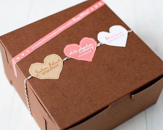 Cute christmas cookie packaging