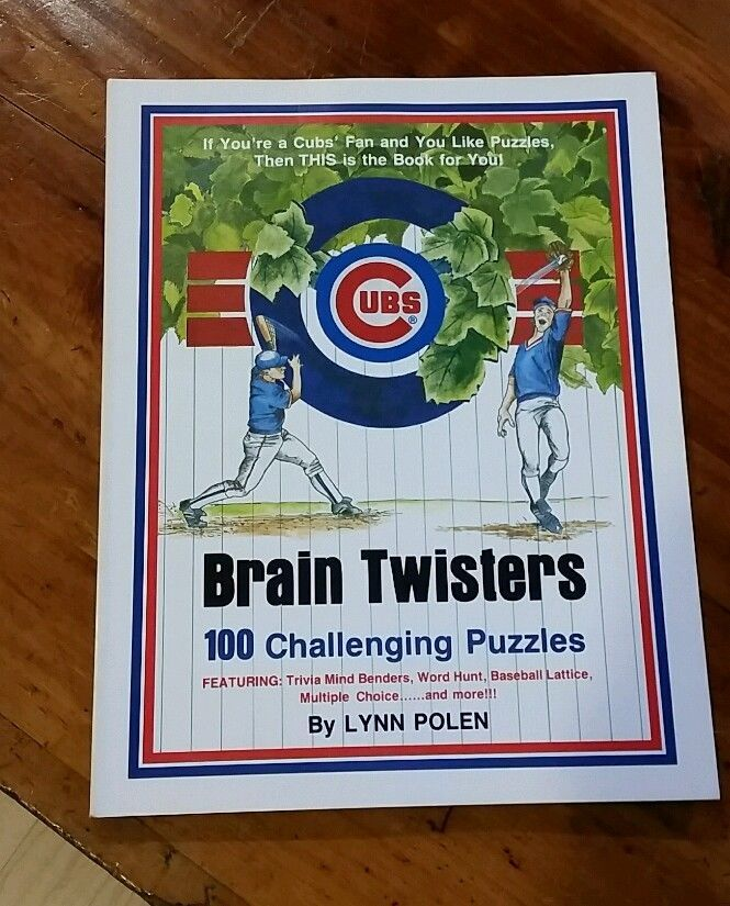 Chicago Cubs Brain Twisters 100 Puzzles by Lynn Polen 1991 #ChicagoCubs
