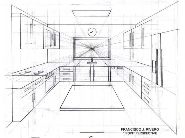 Pin By Kellie Miller On Kitchen Ideas Perspective Drawing Perspective Drawing Architecture Interior Design Drawings