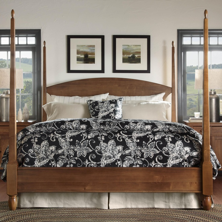 Meeting house king pencil post bed by kincaid furniture - Bedroom furniture made in north carolina ...
