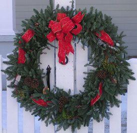 40'' Large Fresh Noble Fir Christmas wreaths