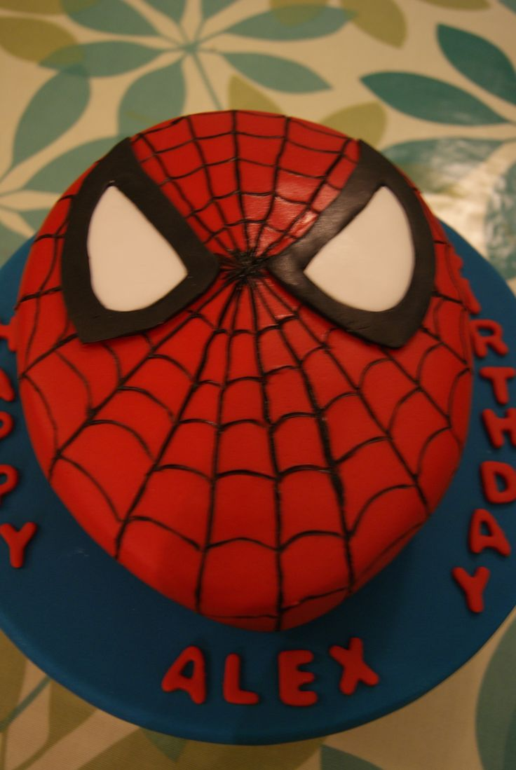 A Spiderman shaped cake - fit for a child of any age!!