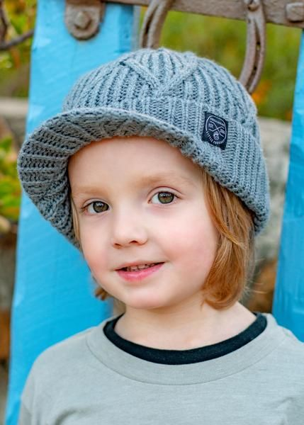 9cd7fa7ca Knuckleheads Grey Visor Beanie For Toddlers | Kids Fashion ...