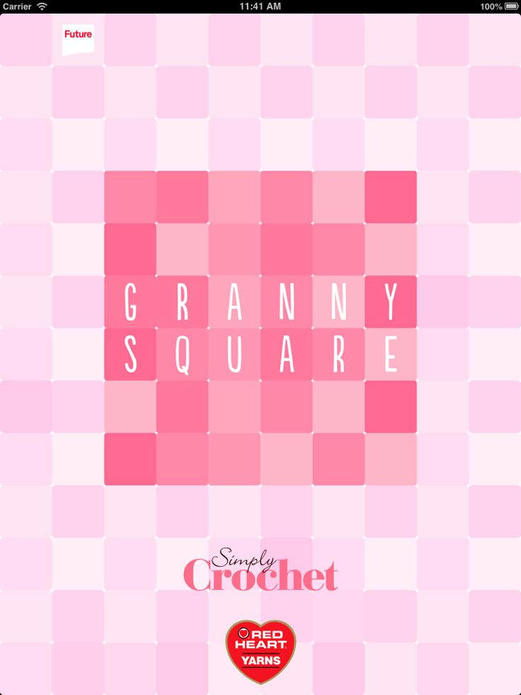 I loooove UK crochet mag Simply Crochet! US stitchers can get a new granny square pattern with written and charted instructions EVERY WEEK with their free app for Apple devices.