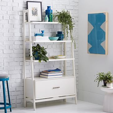 attractive piece for your printer on top and the pull out drawer is a file cab! Mid-Century Bookshelf - Tall Wide #westelm