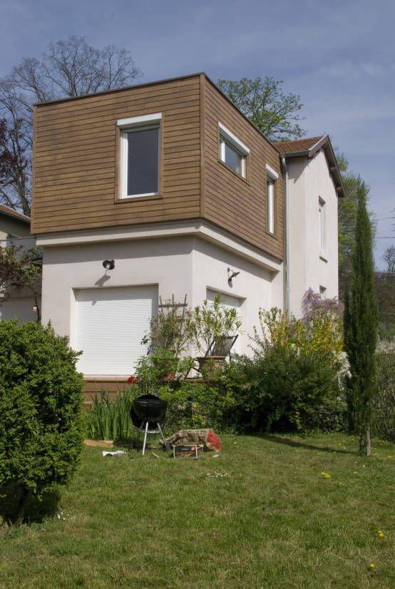 Extension bois sur terrasse, Saint Genis Laval  Maisons modernes par