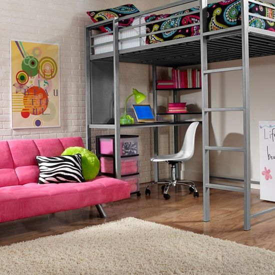 I personally don't like heights but when the space is an issue... Dorm Decoration Ideas : The Contemporary Dorm