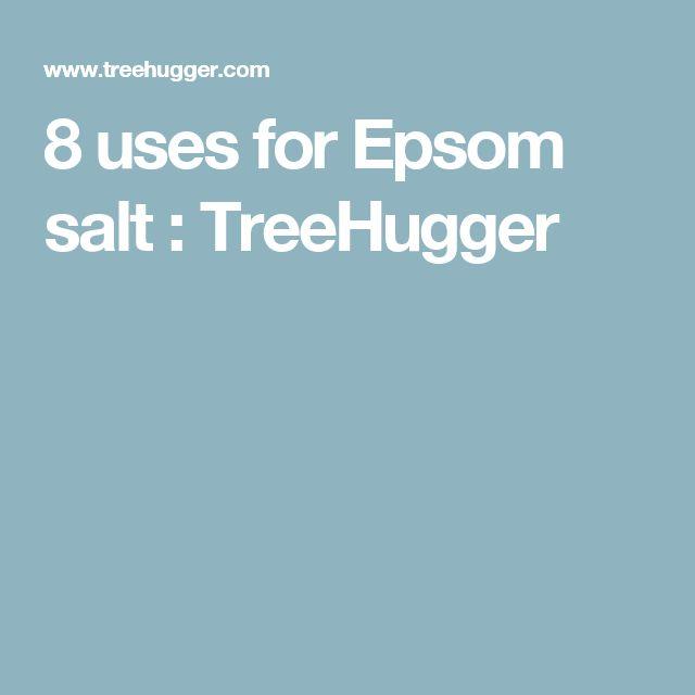 8 uses for Epsom salt : TreeHugger