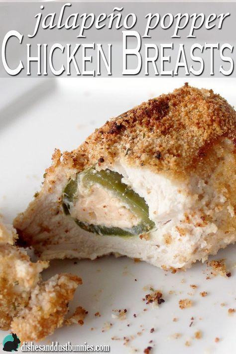 Jalapeno Popper chicken breasts from http://dishesanddustbunnies.com