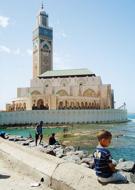 Hassan II Mosque in Casablanca, Morocco by Badr el Amri, via Flickr