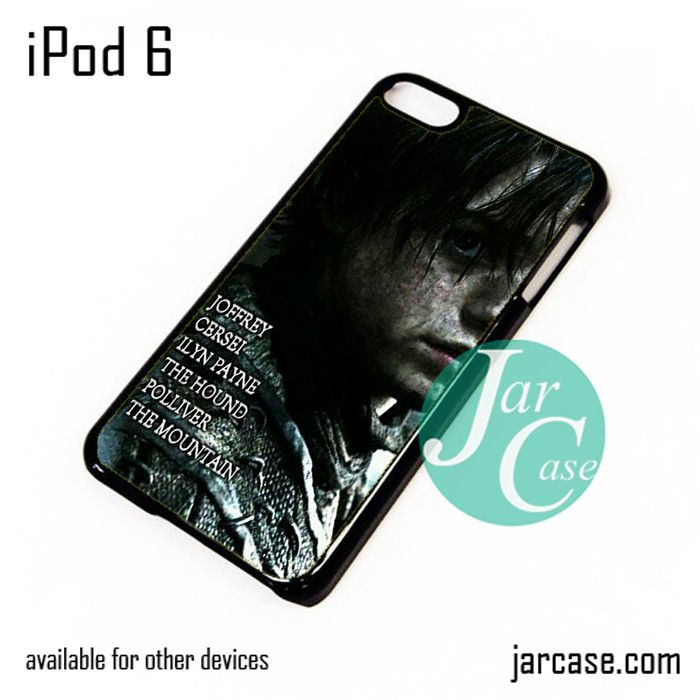Game of Thrones Arya Killing list iPod Case For iPod 5 and iPod 6