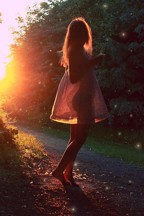 see-through dress, dancing, sunshine, freedom