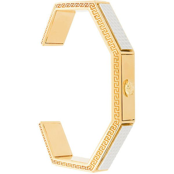 Versace medusa head bracelet ($1,125) ❤ liked on Polyvore featuring men's fashion, men's jewelry, men's bracelets, metallic and mens gold bracelets